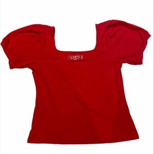 3 for $30 Small Red off the shoulder top twik